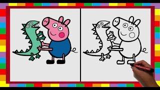 Dibujar paso a paso a George Pig (Hermano de Peppa Pig)/ How to draw George Pig