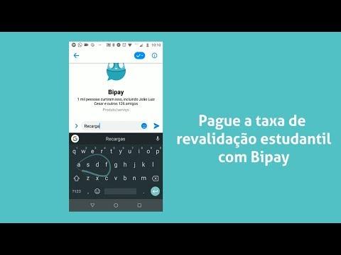 Como pagar a taxa de revalidação estudantil da SPTrans pela internet com Bipay