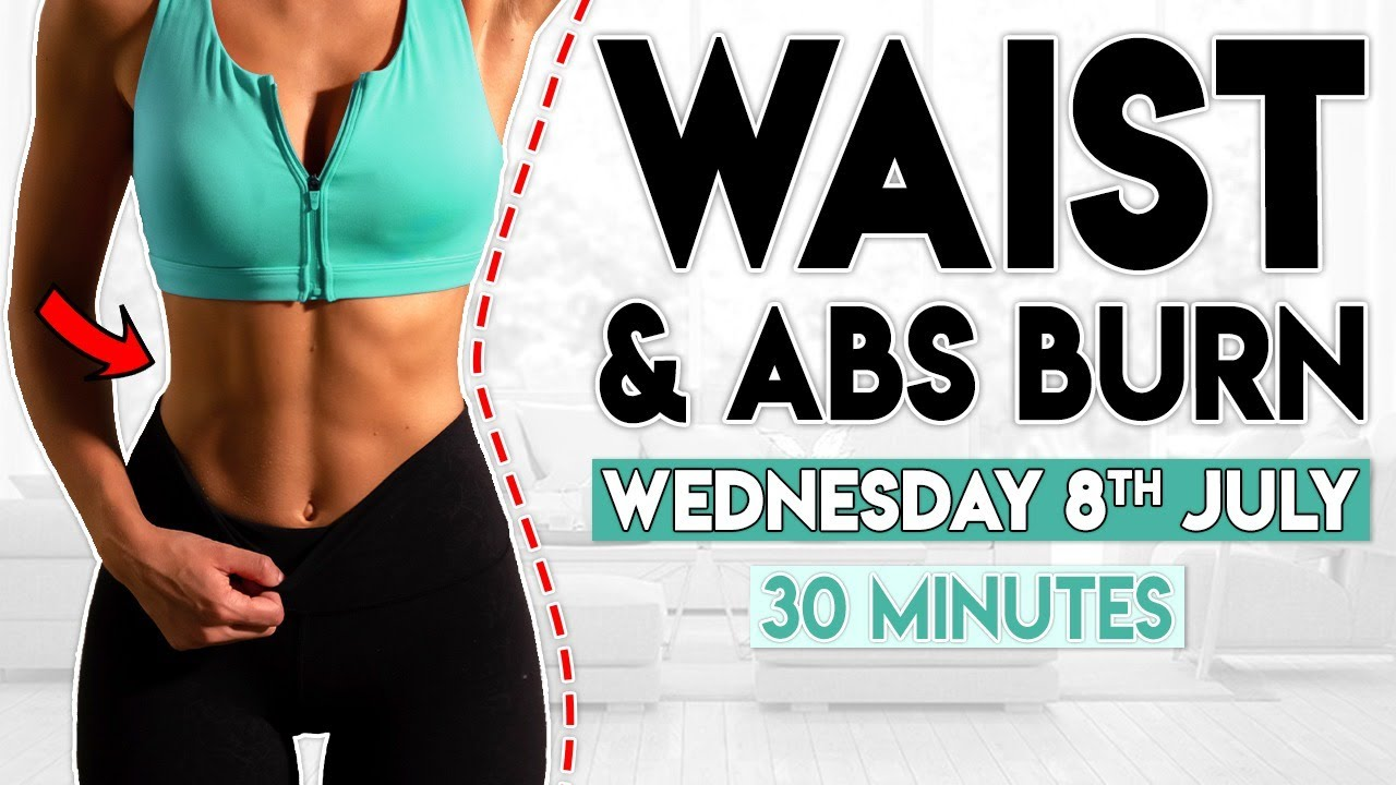 WAIST and ABS BURN (7 Day Flat Belly Challenge) | 30 minute Workout