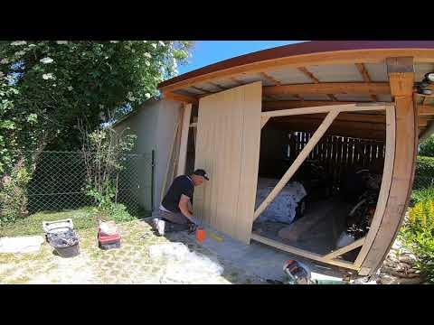 Häufig Holztor , Garagentor selber bauen . - YouTube MV29