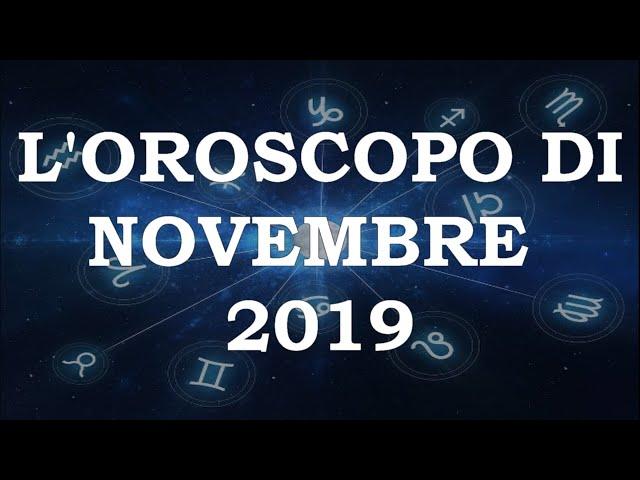 L'Oroscopo di novembre 2019