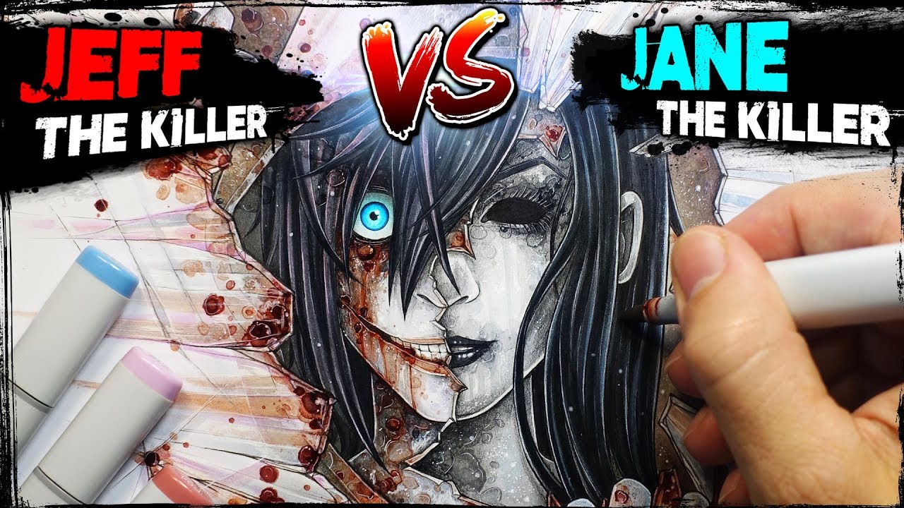 Jeff the Killer vs Jane the Killer: STORY - Drawing ...