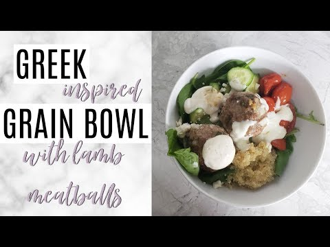 GREEK INSPIRED GRAIN BOWL | HEALTHY & EASY RECIPE