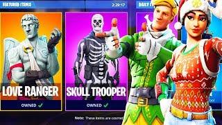 Holiday Skins RETURN to FORTNITE! Love Ranger, Skull Trooper, Ghoul Trooper - Fortnite Battle Royale