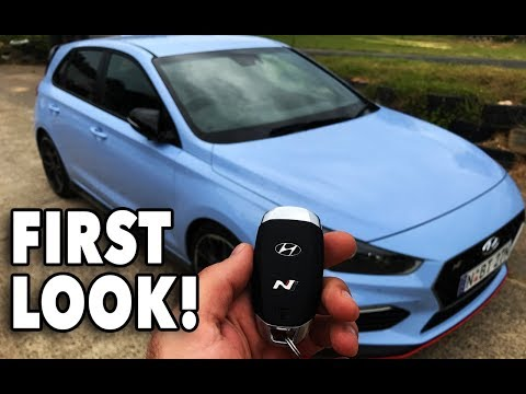 FIRST LOOK Hyundai s 271hp i30N. Walk around, start up, rev, infotainment overview race laps