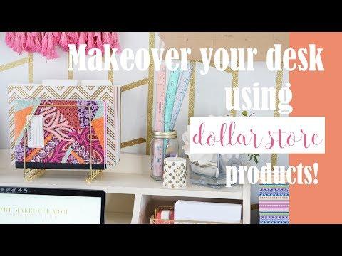 Dollar Tree DIY Room Decor - Office Makeover (Bright Boho)