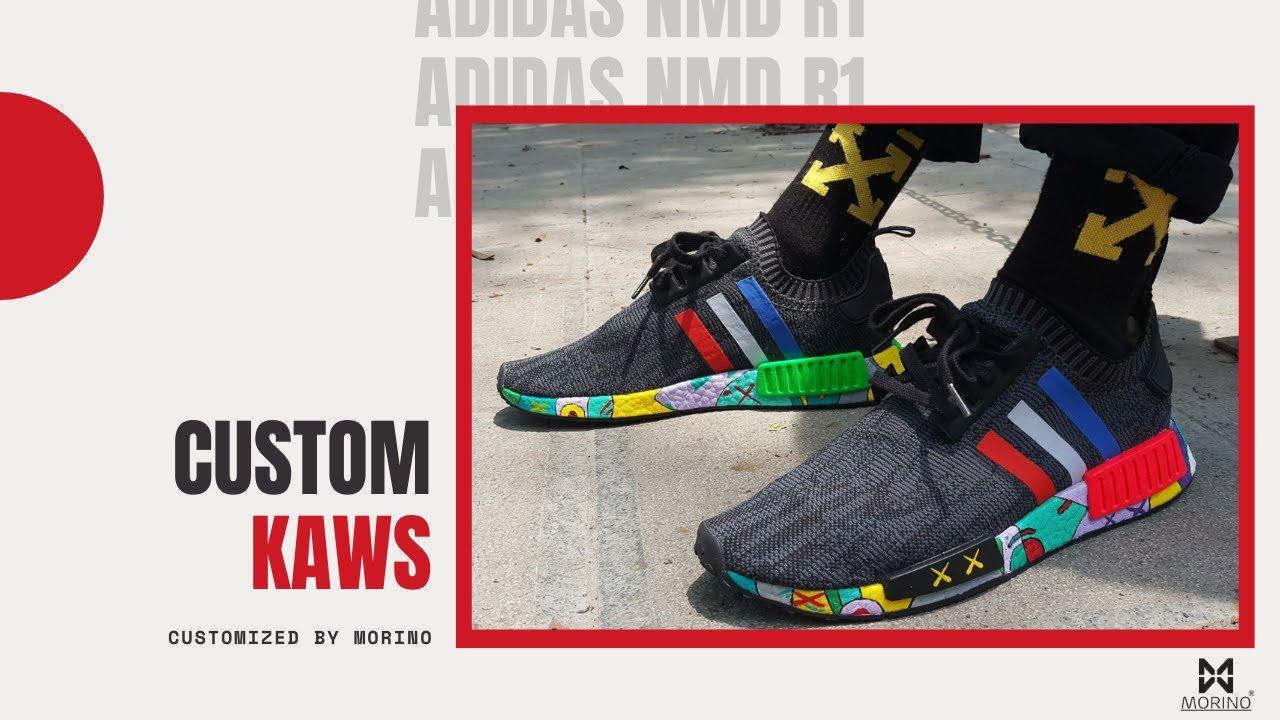 83e87bb65b100 Customs  NMD R1 Tricolor x Kaws custom by MORINO - YouTube