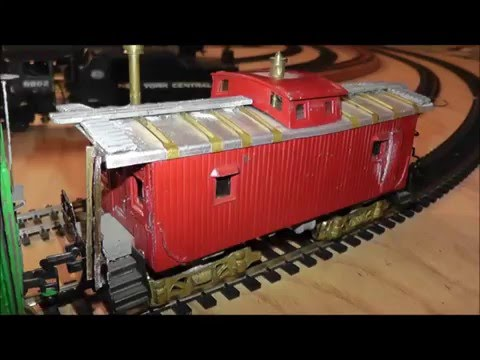 Rare 50s Japan HO Train Set Tenshodo NewOne Model Engine 6 Cars Wood Metal Brass