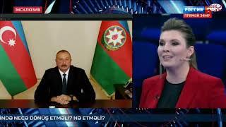 Azərbaycan Prezidenti İlham Əliyev Rossiya-1 kanalının 60 dəqiqə proqramında sualları cavablandırıb