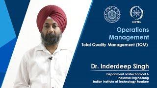 Lecture 47 Total Quality Management (TQM)