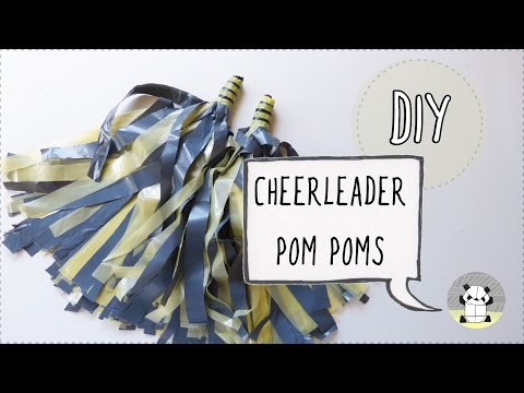 How to make cheerleader pom poms. Arts and crafts for kids