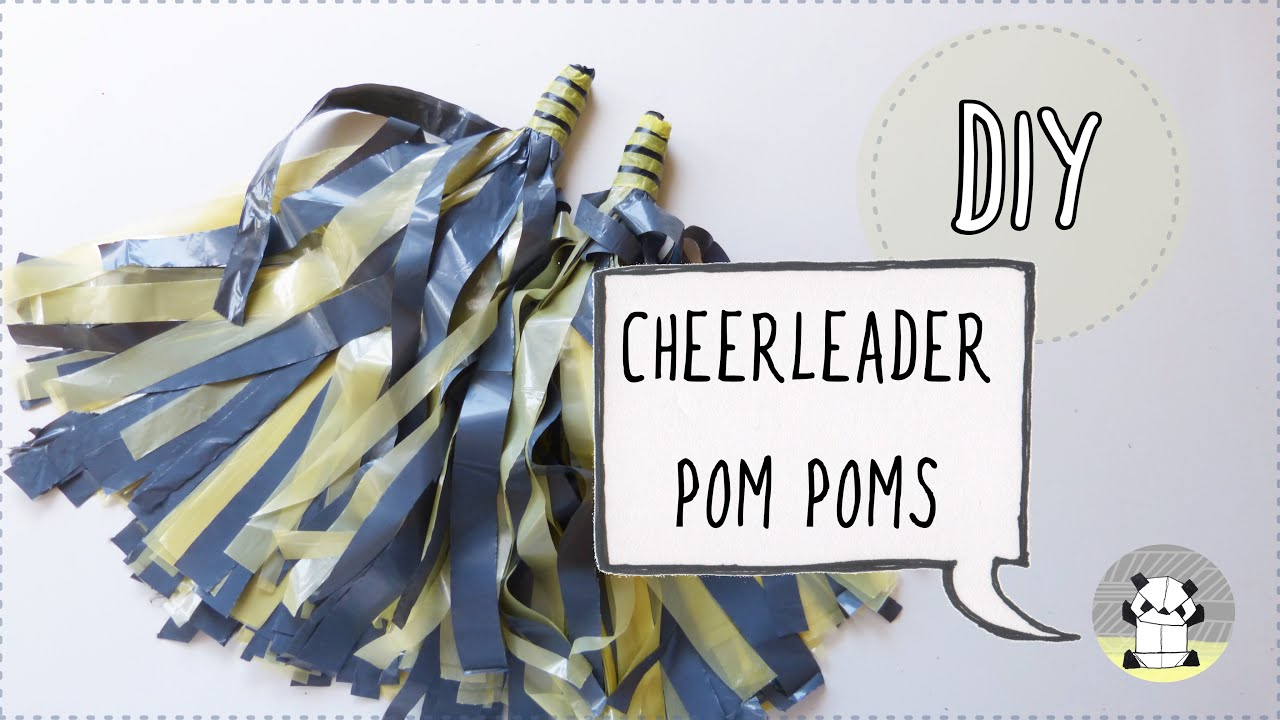 how to make cheerleader pom poms arts and crafts for kids youtube