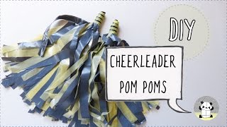 How to make cheerleader pom poms. Arts and crafts