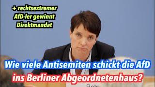 """""""Unverschämte Frage!"""": Wie viele der neuen Berliner AfD-Abgeordneten sind Antisemiten?"""