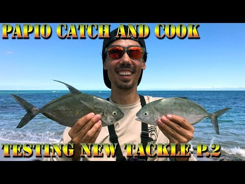 Papio Catch and Cook - Hawaiian Fishing On Hammer Bombs and Big Island Baits - BODS 40 Part 2