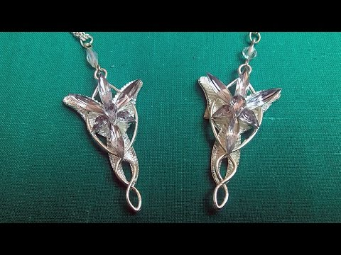 Lord of the rings elfstone evenstar necklace 2 versions review youtube lord of the rings elfstone evenstar necklace 2 versions review aloadofball Image collections