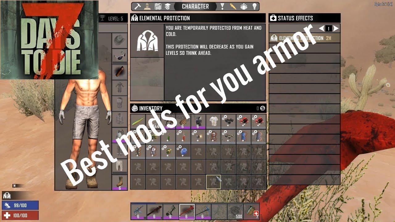 7 Days To Die Alpha 17 Best Armor Mods Youtube