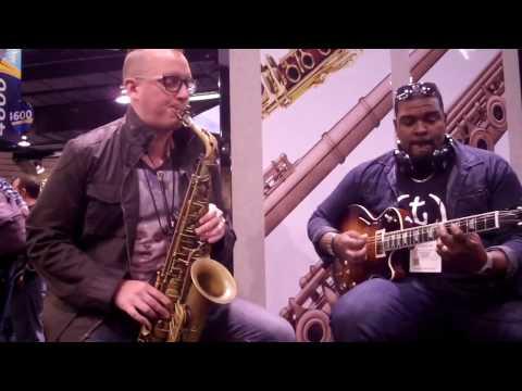 Danny Kusz and David P Stevens at Eastman Musical Instruments NAMM 2017