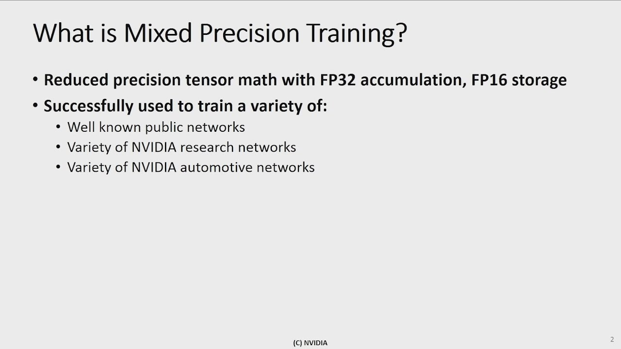 Video Series: Mixed-Precision Training Techniques Using Tensor Cores