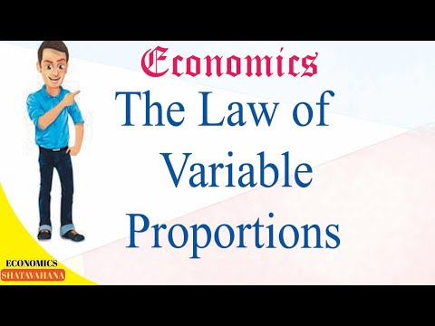 Economics:  Law of variable proportions