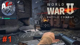 😇World War 2 - Battle Combat (FPS Games) Gameplay #1 (Android, iOS) screenshot 2