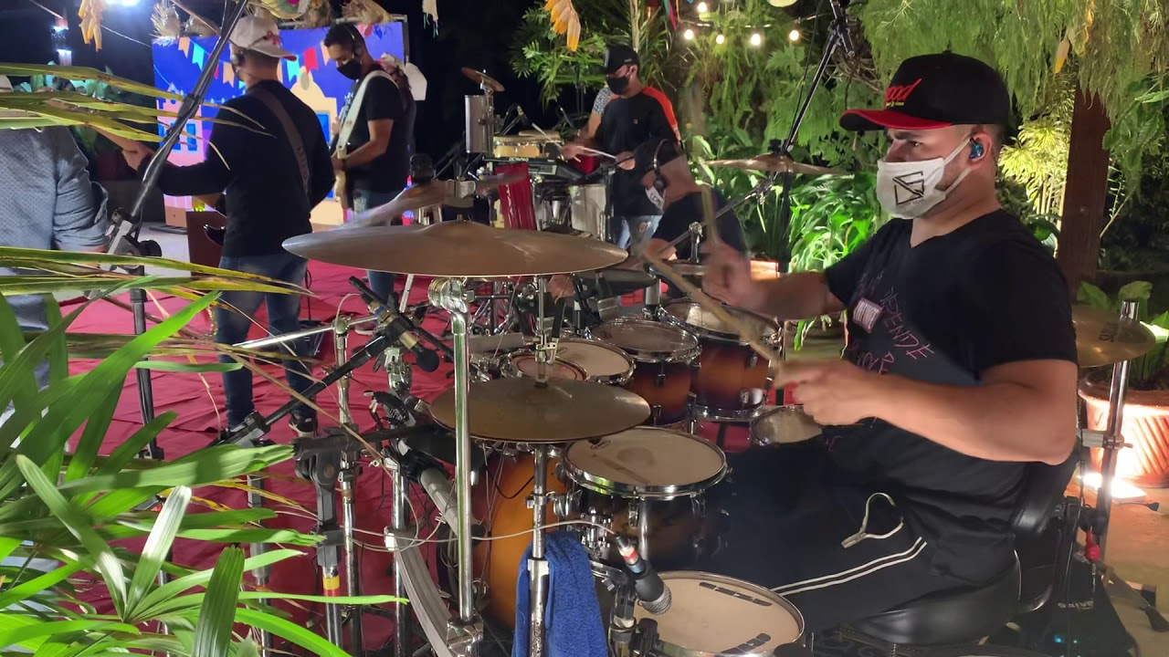 Rico Batera #DrumCam #LiveDiegoSilva #Kornetão