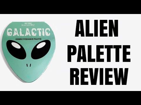 GALACTIC COSMIC PALETTE REVIEW ALIEN MAKEUP  PALETTE