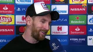 BARÇA 5-1 LYON | Messi: 'Toque quien toque ahora va a ser complicado'