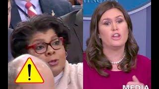 Sarah Sanders Gets Pissed After Reporter April Ryan Keeps Bringing Up Trump's Female Accusers