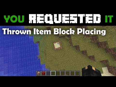 You Requested It - Thrown Item Block Placement