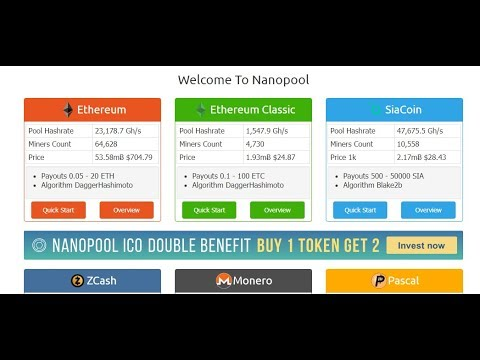 How to earn through mining  ethereum in pakistan dash zcash on NanoPool gpu rig 2018