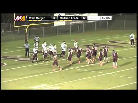 QB #7 Blake Cowert of Madison Academy dives in for TD