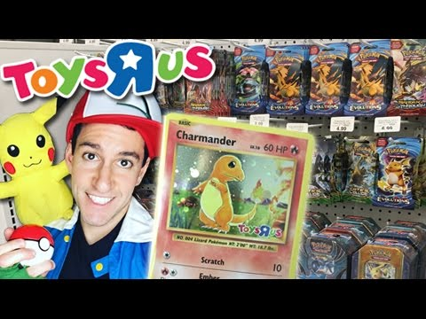 POKEMON DAY TOYS R US! - Holo Charmander Card And SPECIAL PIKACHU FIGURE!