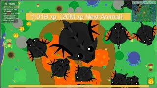 MOPE.IO WORLD RECORD 1 BILLION XP HIGHSCORE | 15 BLACK DRAGON SERVER!