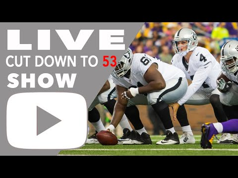 Oakland Raiders roster 2016 cuts, Raiders 53 man roster announced, Cowser, Atkinson 3rd Cut