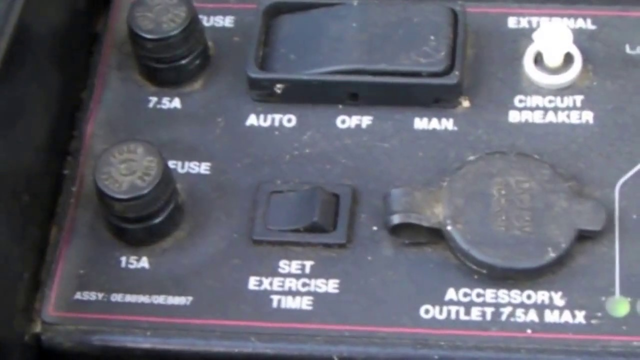 Generac 15 Amp System Fuse Blown  Not Starter Motor Or Solenoid  Not Starter Solenoid