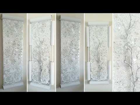 GLAM WALL ART |CRUSHED GLASS WALL ART | HOME DECOR IDEAS! | QUICK AND EASY DIY | Z GALLERY INSPIRED