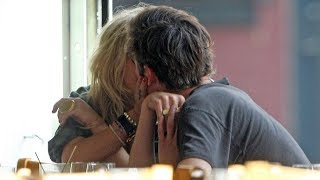 23/08/2008 - Mary-Kate Olsen kissing Nate Lowman while dining