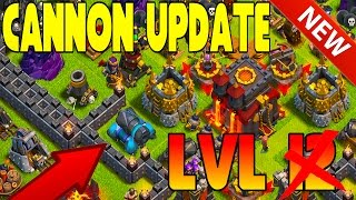 CLASH OF CLANS - LVL 13 CANNON UPDATE 2015 + MINI GAMES / DAILY CHALLENGES @CLASHOFCLANS (WWWW)