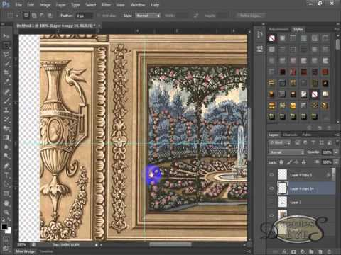 Make Frame with any Objects in Urdu Poetry Design - YouTube