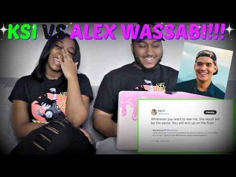 KSI  LAUGHING AT: ALEX WASSABI  REACTION!!!