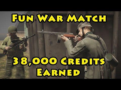 Fun War Match, Earned 38,000 Credits - Heroes & Generals