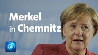 Merkel zu Bürgerdialog in Chemnitz
