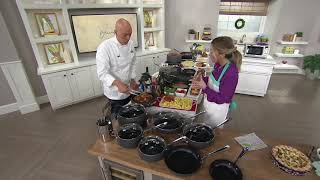 All-Clad Hard Anodized Nonstick 17-Piece Cookware Set on QVC