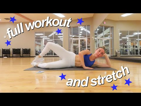 gym vlog my workout and stretching routine dancer