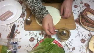 Вкусные блюда с тонким ЛАВАШЕМ  Горячие РОЛЛЫ с сосисками дома Рецепт