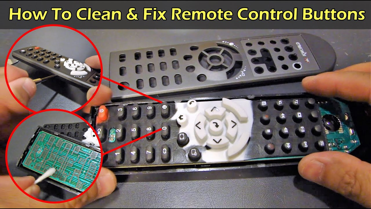 How To Fix Clean Your Remote Control Buttons Youtube Solved My Rf Controlled Car Circuit