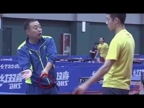 [TT Coach] China Team Training for Rio LGL teaches XuXin loop short balls