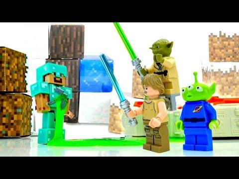 Видео Майнкрафт - Стив и инопланетяне! - Звездные Войны в Minecraft.