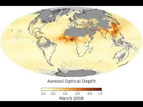 Aerosol Optical Depth (MODAL2 M AER OD -- from NASA Earth Observatory)